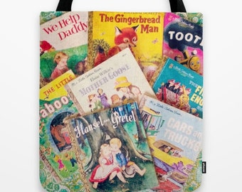 Little Golden Books Tote Bag: vintage books, children's books, librarian, kid's books