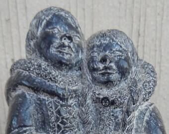 Vintage Soapstone Inuit Sculpture!
