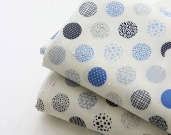 Laminated Patterned Dots Cotton Fabric by Yard - 2 Colors Selection