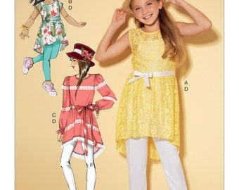McCall's Pattern M7527 Children's/Girls' High-Low Hem Tunics, and Leggings