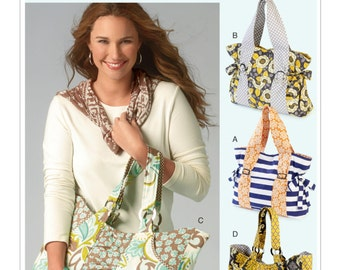 McCall's Sewing Pattern M6905 Ruched and Gathered Tote Bags