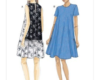 Vogue Sewing Pattern V9237 Misses' A-Line, Back-Ruffle Dresses