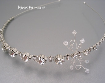 Jewelry Wedding Headband with Rhinestone for Bridal Hairstyle