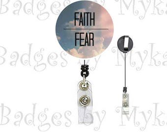 Retractable ID Badge Holder - Faith/Hope