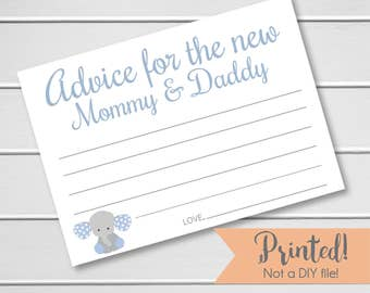 Baby Shower Advice Cards - 20pk, Advice Cards for the New Mommy & Daddy , Boy Shower Advice Cards (Advice9)