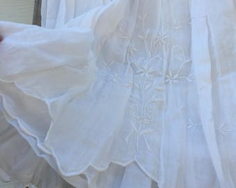 Gorgeous Edwardian 3 Tiered Skirt with Hand Embroidery Size-Large