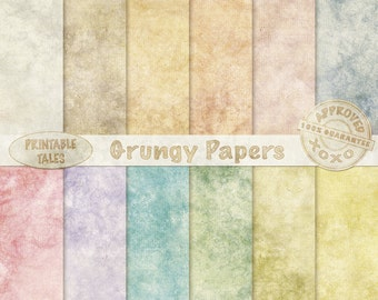 Grungy Background Papers, Digital Soiled Paper Pack, Faded Old Pages, Page with a dirty look, Instant Download, Commercial Use Included