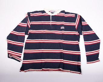 Vintage Ralph Lauren Chaps Polo Stripe Button Up Top