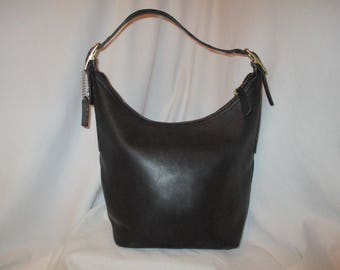 Vintage Coach 9823 leather shoulder bag