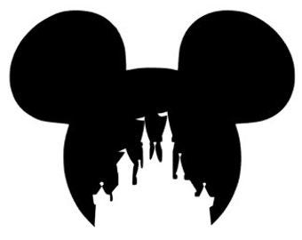 Disney Castle Decal Etsy