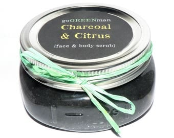 Charcoal & Citrus Face and Body Scrub