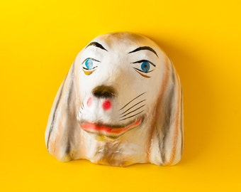 Traditional Mexican paper mache mask dog