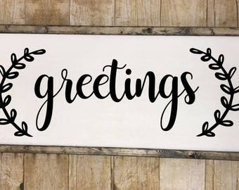 Greetings sign, Greetings wall art