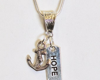 This Hope Is Our Anchor Pendant on Silver Chain, Hebrews 6:19 Bible Verse Jewelry, Gift For Her, Sympathy Gift, Valentines Day Gift