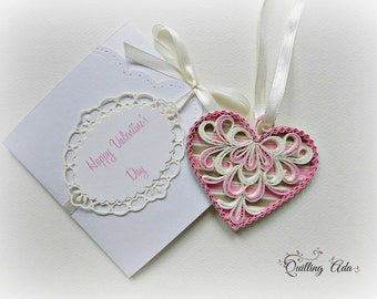 Customized love card/Quilled love card/Valentine's Day card/Valentine's gift/wedding card/heart love card