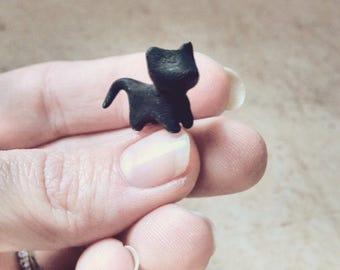 Little Cat Figurine Handmade Polymer Clay Gift Ideas Sculpture