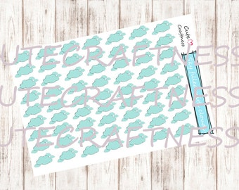 weather cloudy stickers perfect for your planner