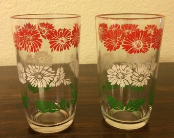Set of 2 Vintage Juice Glasses