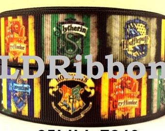"""1"""" HP Houses Inspired Grosgrain Ribbon"""