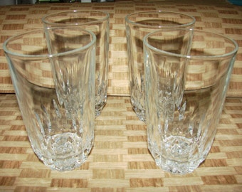 Vintage Set Of Four Crystal Water Glasses