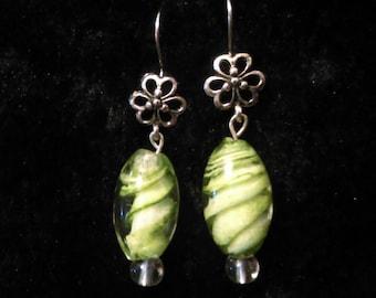 Shamrock clover st patricks day earrings