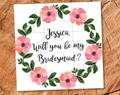 Will You Be my Flower girl Will You Be our Flower girl Ask Flower Girl gift Puzzle Flower girl jigsaw Flower girl proposal card Flower girls