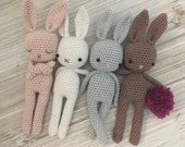 Baby amigurumi Bunny,crochet bunny, crochet toy,baby bunny,easter bunny, brown rabbit, child gift, newborn birth gift, newborn shower gift