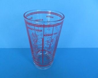 Libbey  Measuring clear  Glass - 12 oz.  - Kitchen or Bar  -Vintage Collectable
