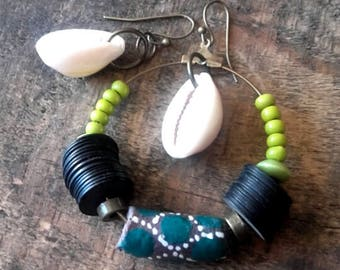 "Asymmetric Earrings Collection ""Afro-Bohemia"""