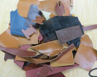 leather scraps (4.5 lbs)
