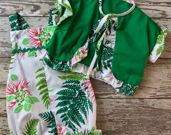 Tropical Leaves Romper & Jacket-Infant