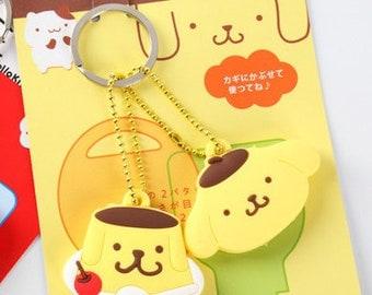 Pompompurin Pudding Dog Key Chain holder / Key Cap Cover