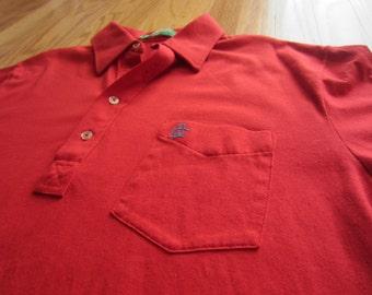 Vintage 80s Grand Slam Munsingwear Penguin Mens Polo Golf Shirt Red Large