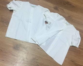 Clothkits designs 2 x white childrens cute shirts aged 4-5 years