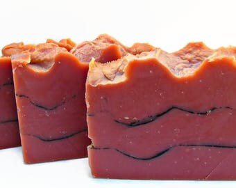 Sultry Black Jasmine Clay Soap, Rose Kaolin Clay, Vegan Soap