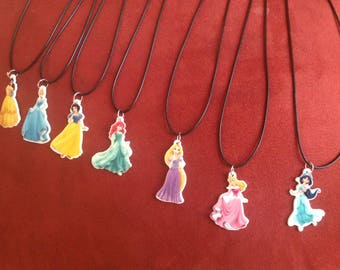 Set of Disney Princess necklaces. Fast shipping from USA