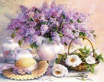 Instant Download cross stitch flowers