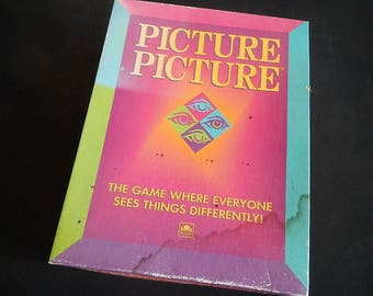 Vintage Picture Picture Board Game - Western Publishing Company - 1992 - game night, 5074, players 2-6, family fun, party game, team game