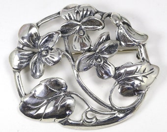Danecraft Sterling Silver Forget Me Not Pin Brooch