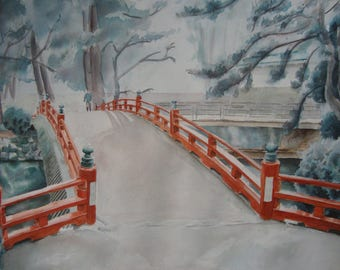Japanese Bridge, Fine Art Print
