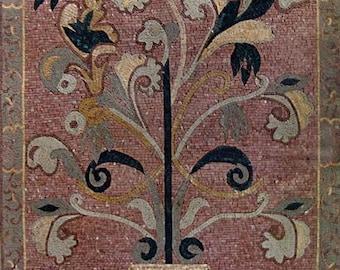 Fountain Flowery Mosaic Insert