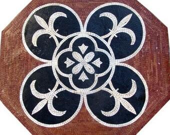 Octagon Fleur de Lis Mosaic - Iris