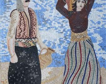 Traditional Couple Handmade Mosaic