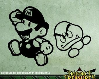 Mario & Goomba Sticker / Decal