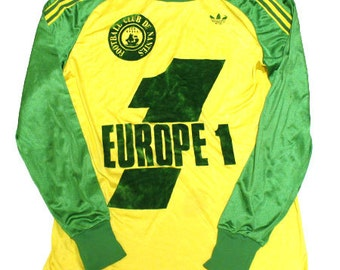 70's vintage adidas FC nantes football shirts made in france
