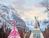 Native, cowgirl themed teepee