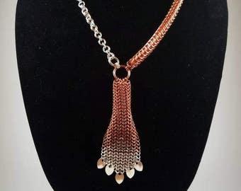 Fine Silver and Copper Necklace