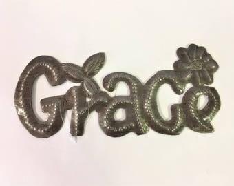Metal Grace Sign  HHL1/Gift/Custom Metal/Sign/Grace Sign/Metal Decor/Home Decor/Word Sign