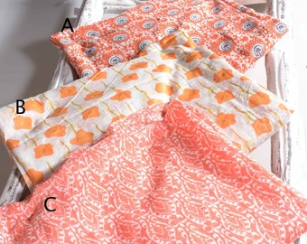 Cotton Scarf Spring Summer Peach Foulard