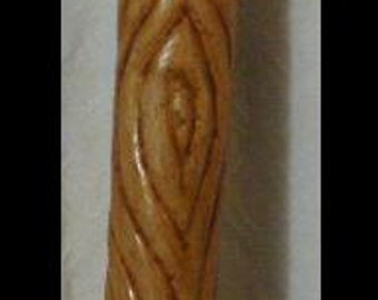 Ripple Walking Stick with Moonstone Inlay